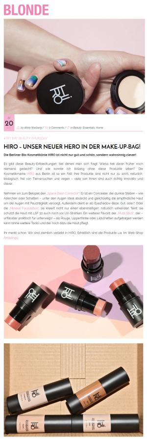 Blonde Magazine, 20. Juli 2017, HIRO