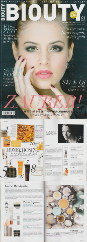 BIOUTY April 2015, May Lindstrom,Ilia, rms, Konjac